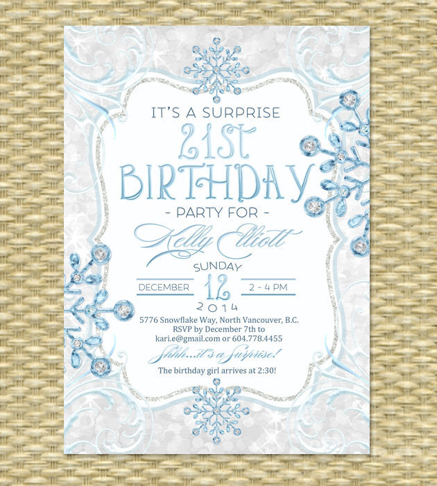 Printable Winter Baby Shower Invitation Holiday Baby Shower Ice Glitter  Diamond Snowflakes Baby Itu0027s Cold Baby Shower ANY EVENT