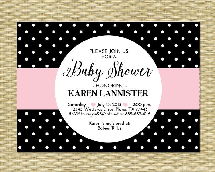 Printable Baby Shower Invitation Black Aqua and White Baby Boy Shower Baby Sprinkle, Any Event, ANY COLORS