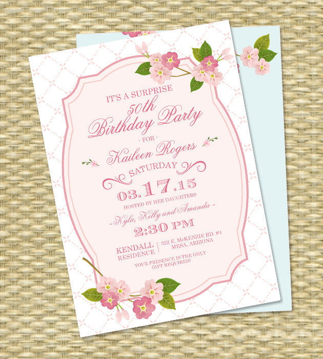 Spring baby shower invitation sip and see baby sprinkle spring spring baby shower invitation sip and see baby sprinkle spring cherry blossoms sakura pink aqua baby girl gender neutral any event filmwisefo