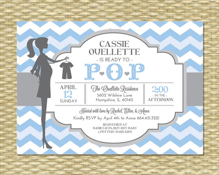 Gender neutral ready to pop baby shower invitation teal aqua mint gender neutral ready to pop baby shower invitation teal aqua mint chevron baby brunch baby sprinkle sip and see any color any event filmwisefo