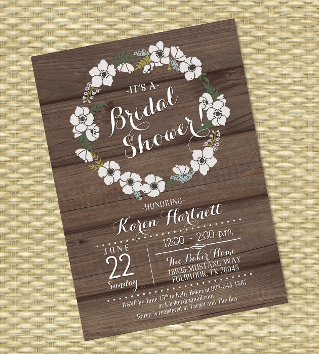 Rustic chalkboard bridal shower invitation shabby chic floral wreath rustic chalkboard bridal shower invitation shabby chic floral wreath rustic wood floral invitation rustic couples shower wedding shower filmwisefo