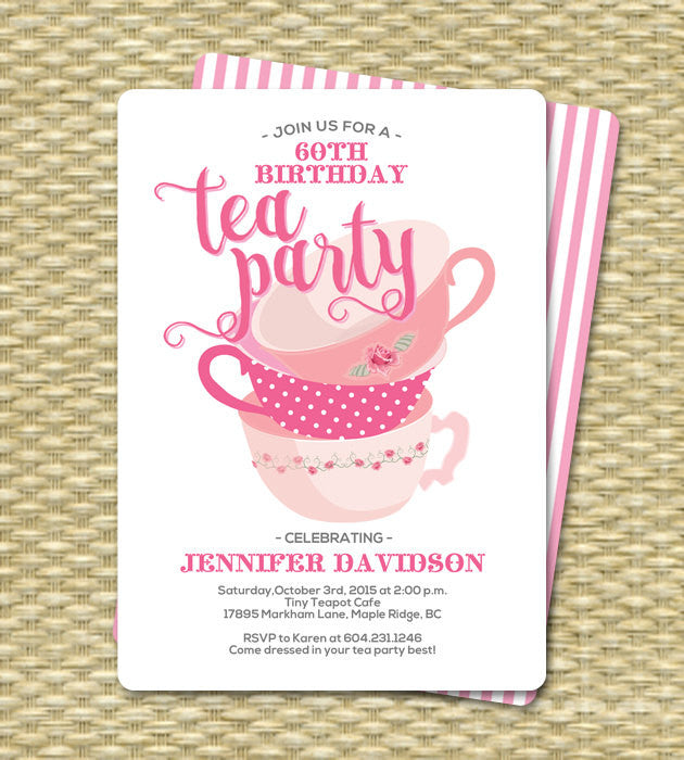 bridal shower invitation tea party invitation bridal shower tea