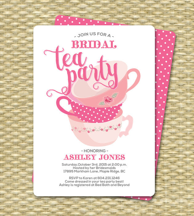 Bridal shower invitation tea party invitation bridal shower tea bridal shower invitation tea party invitation bridal shower tea party invitations bridal tea filmwisefo Images