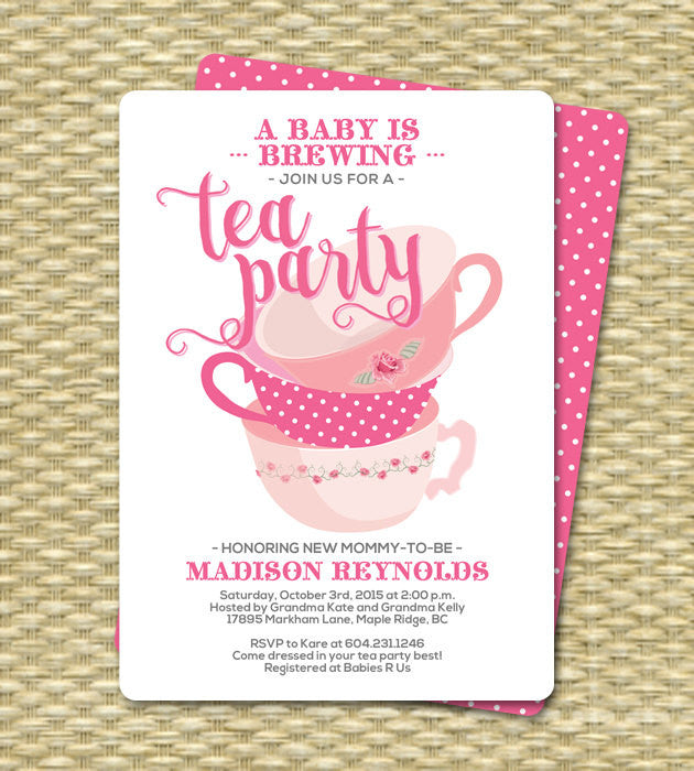 Birthday Tea Party Invitations Invitation 60th Any Age High Afternoon
