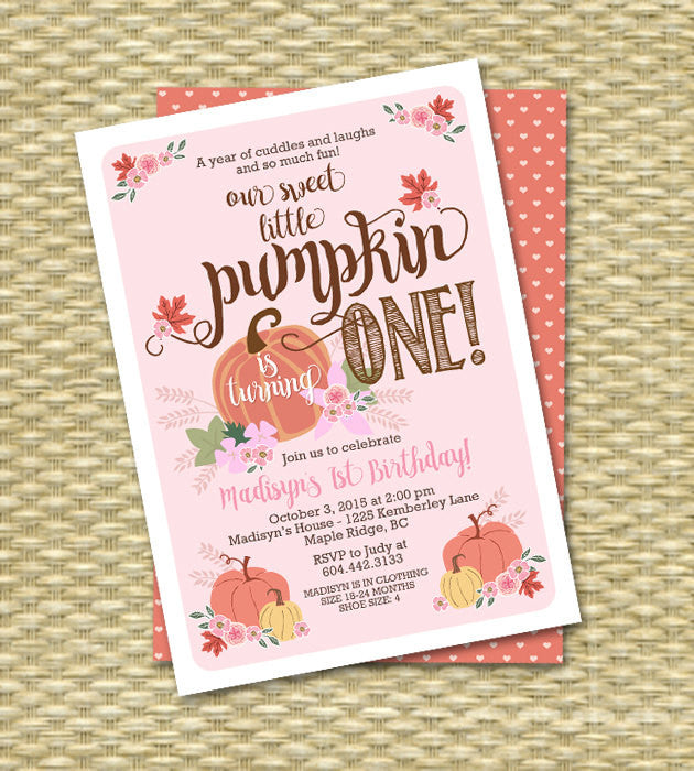little pumpkin birthday invitation first birthday invitation pumpkin