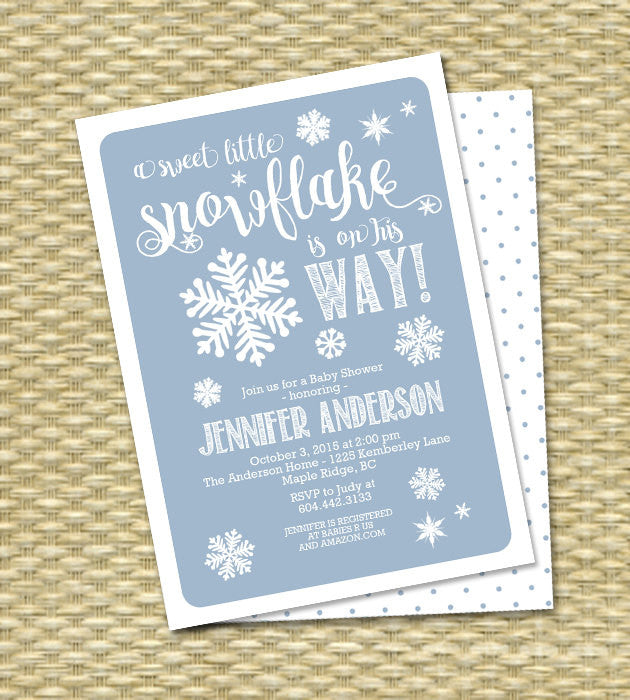 Woodland Sip and See Invitation BAS46 Baby Shower or Sprinkle Invitation