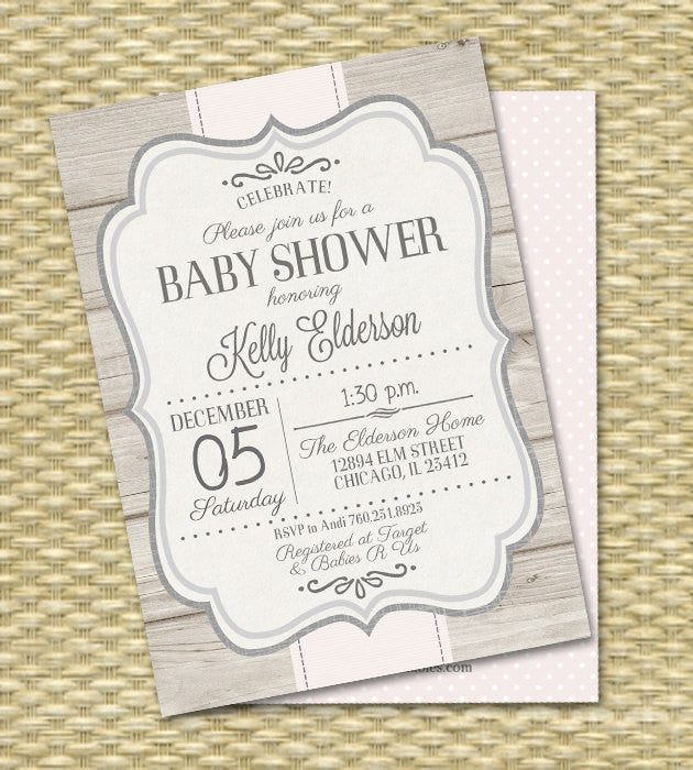 Baby Shower Invitation Gender Neutral Baby Shower Cream Ivory Grey Sip and See Baby Sprinkle Diaper Wipes, Any Colors, Any Event