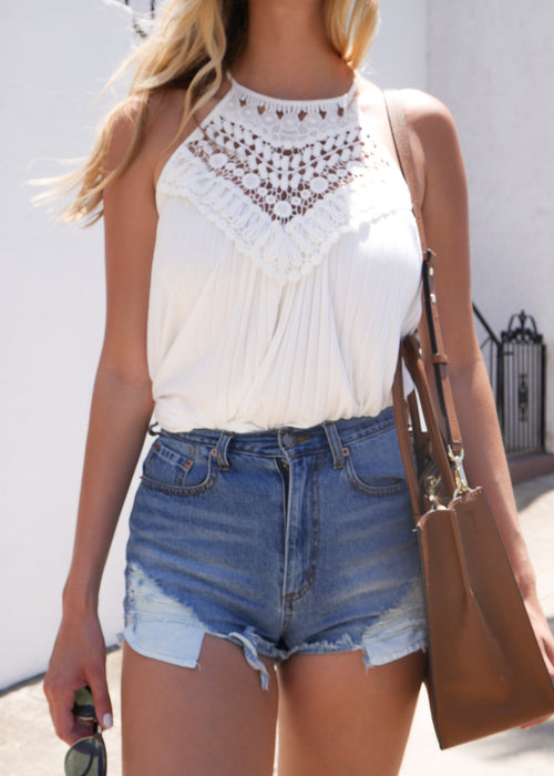Barbados Crochet Chest Top