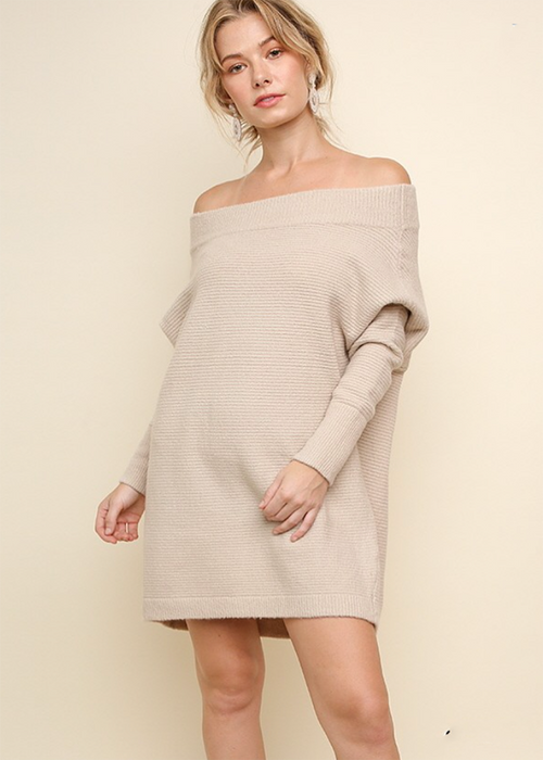 Redefined Sweater Dress - Oatmeal