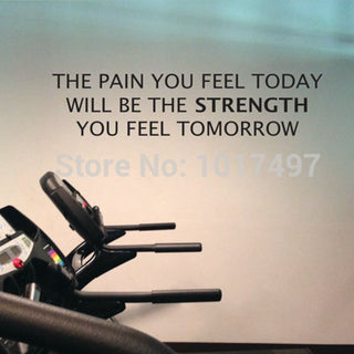 he Pain You Feel Today, Is the Strength You Feel Tomorrow - Sticker - StrengthBand.com