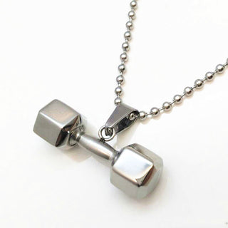 Hex Dumbbell Pendant and Necklace - StrengthBand.com