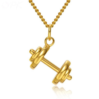 Hanging Dumbbell Pendant and Chain - StrengthBand.com