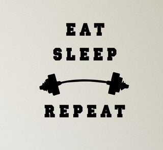 Eat Sleep Repeat Wall Sticker