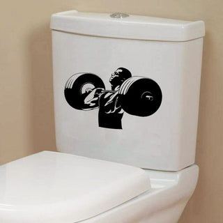 WeightLifter Vinyl Toilet Sticker - StrengthBand.com