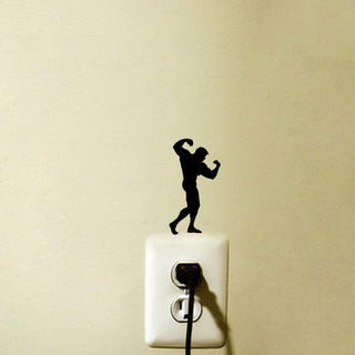 Bodybuilder Light Switch Sticker - StrengthBand.com