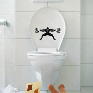 Toilet  Powerlifter Sticker - StrengthBand.com