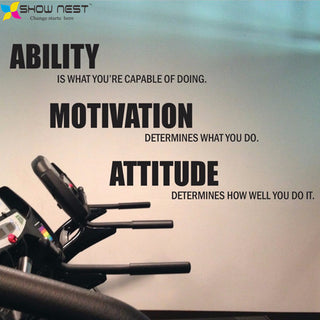 Ability, Motivation, Attitude Gym Wall Art - StrengthBand.com