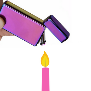 Electric Plasma Arc Lighter Igniting Candle