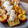 Grilled Pound Cake & Stone Fruit with Salted Strawberry Whipped Cream