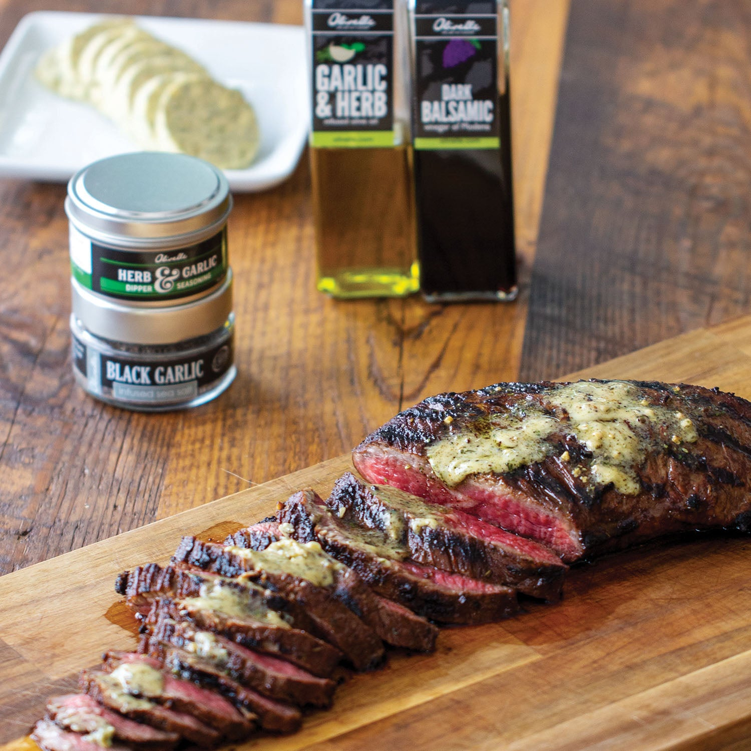 Herb & Garlic Tri-Tip with Compound Butter