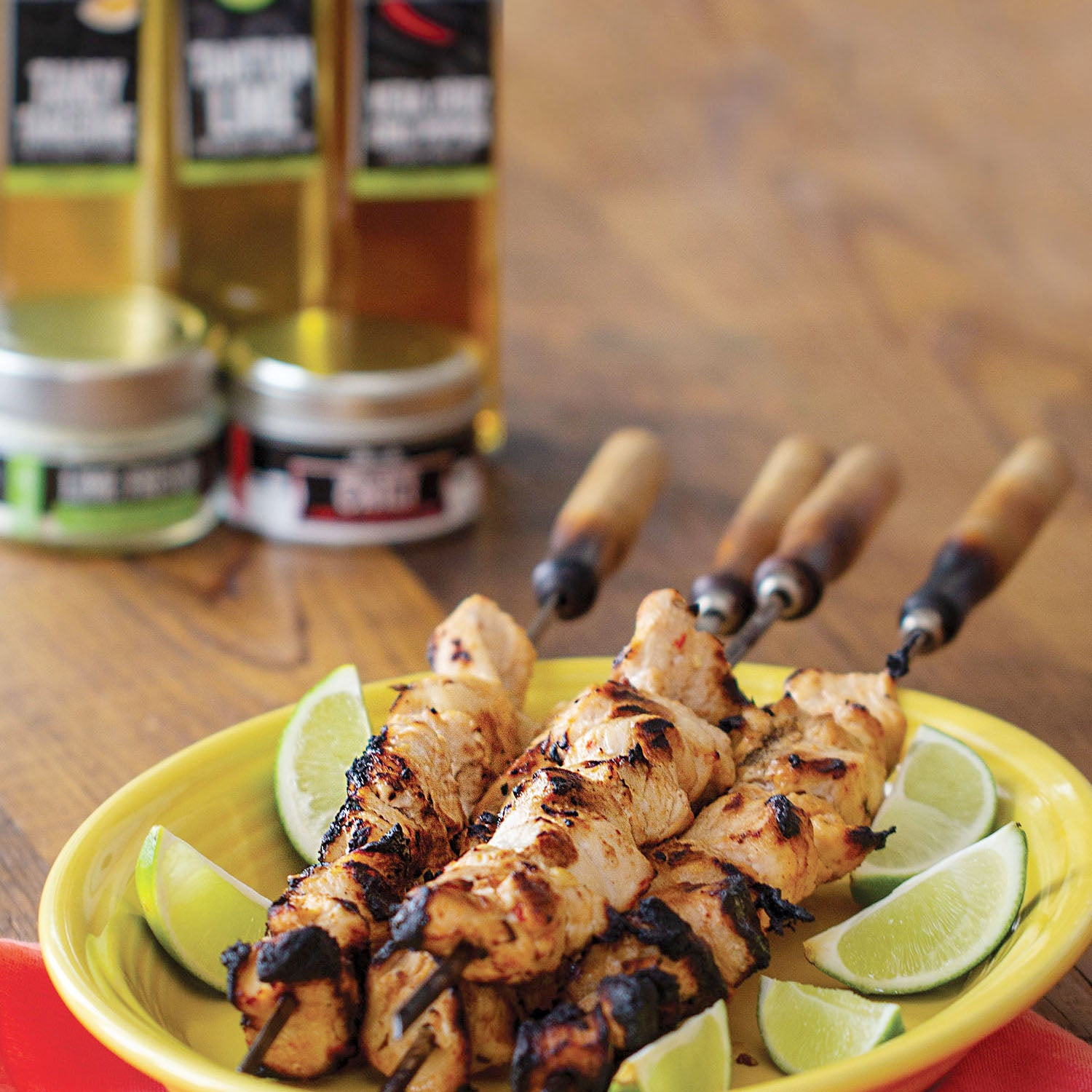 Tangerine Chili Chicken Skewers