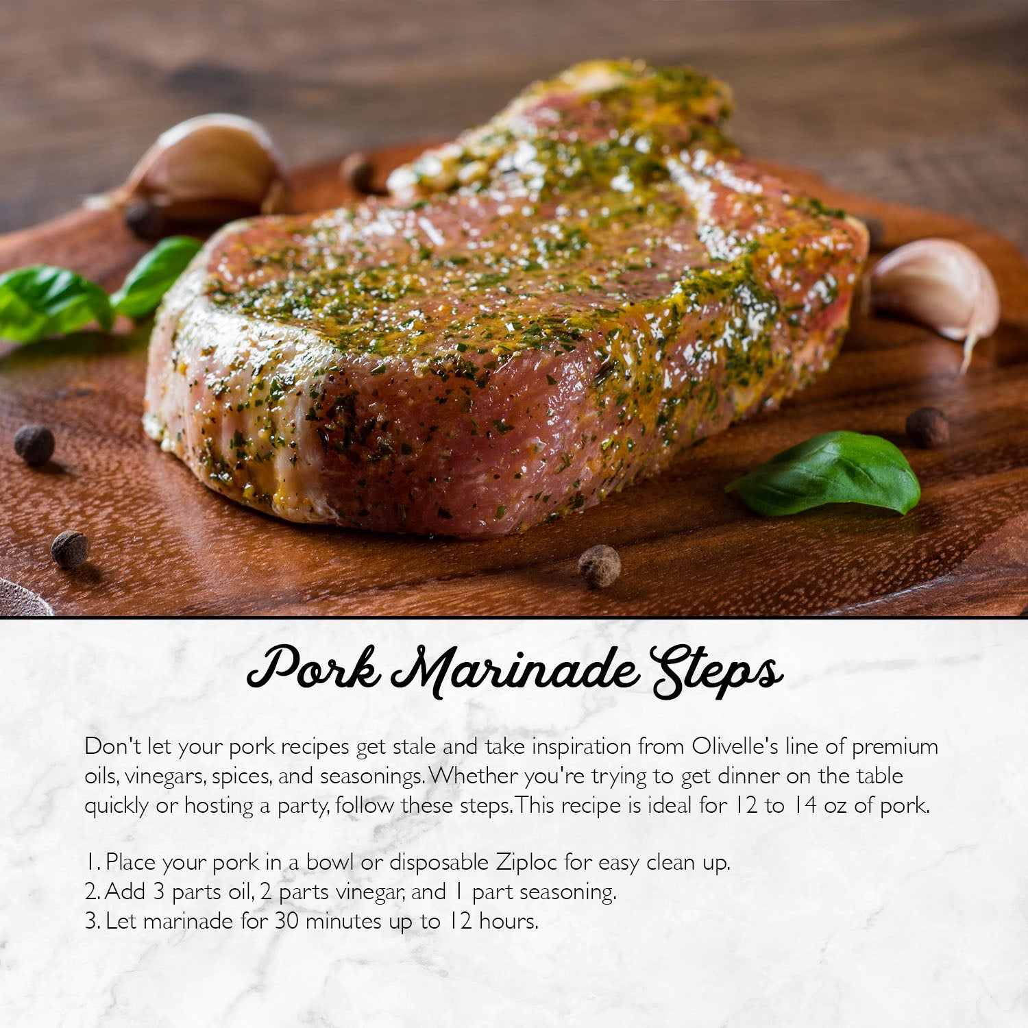 Mediterranean Rosemary Pork - Marinade Gift Kit