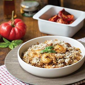 Tomato Basil and Calabrian Chili Risotto with Shrimp - Recipe Gift Kit