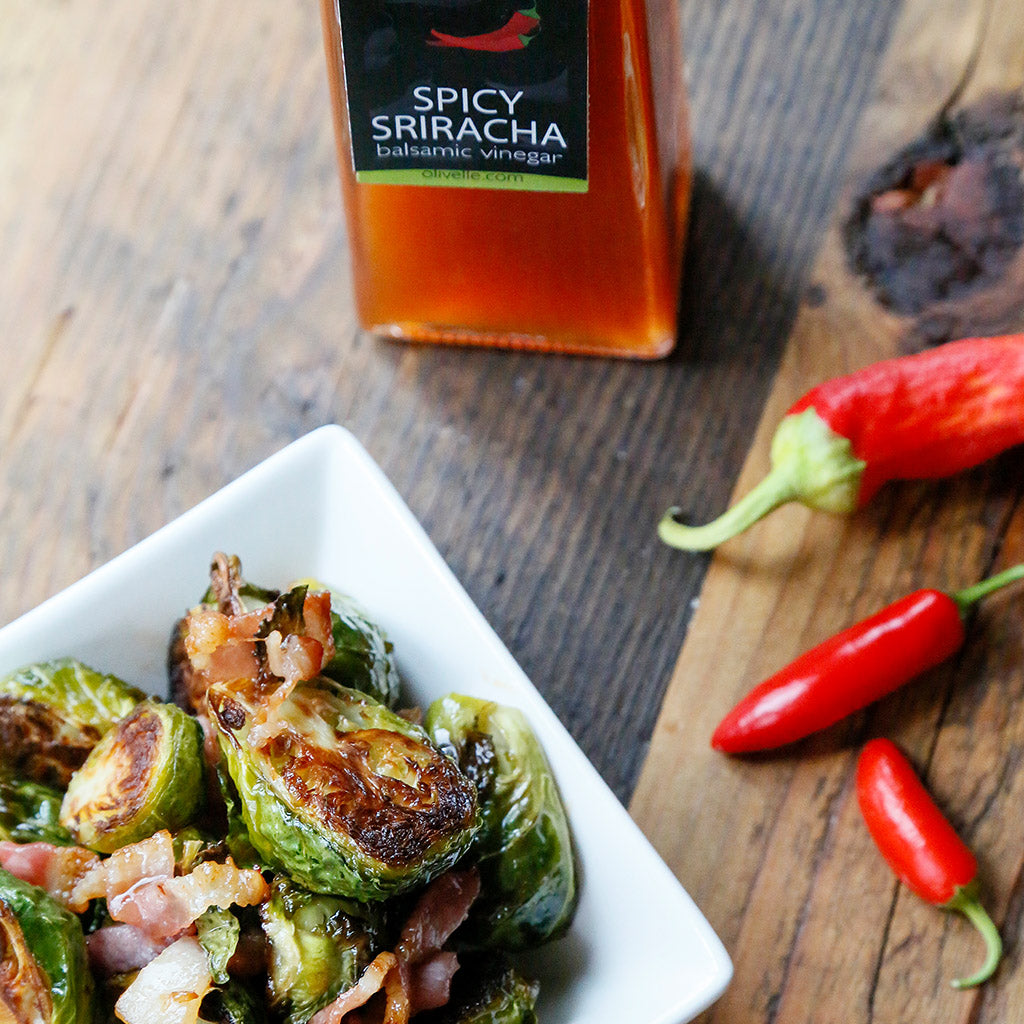 Bacon & Sriracha Roasted Brussel Sprouts - Recipe Gift Kit