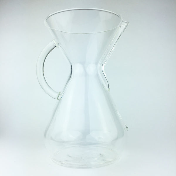 Chemex 8 cup glass pour over coffee brewer