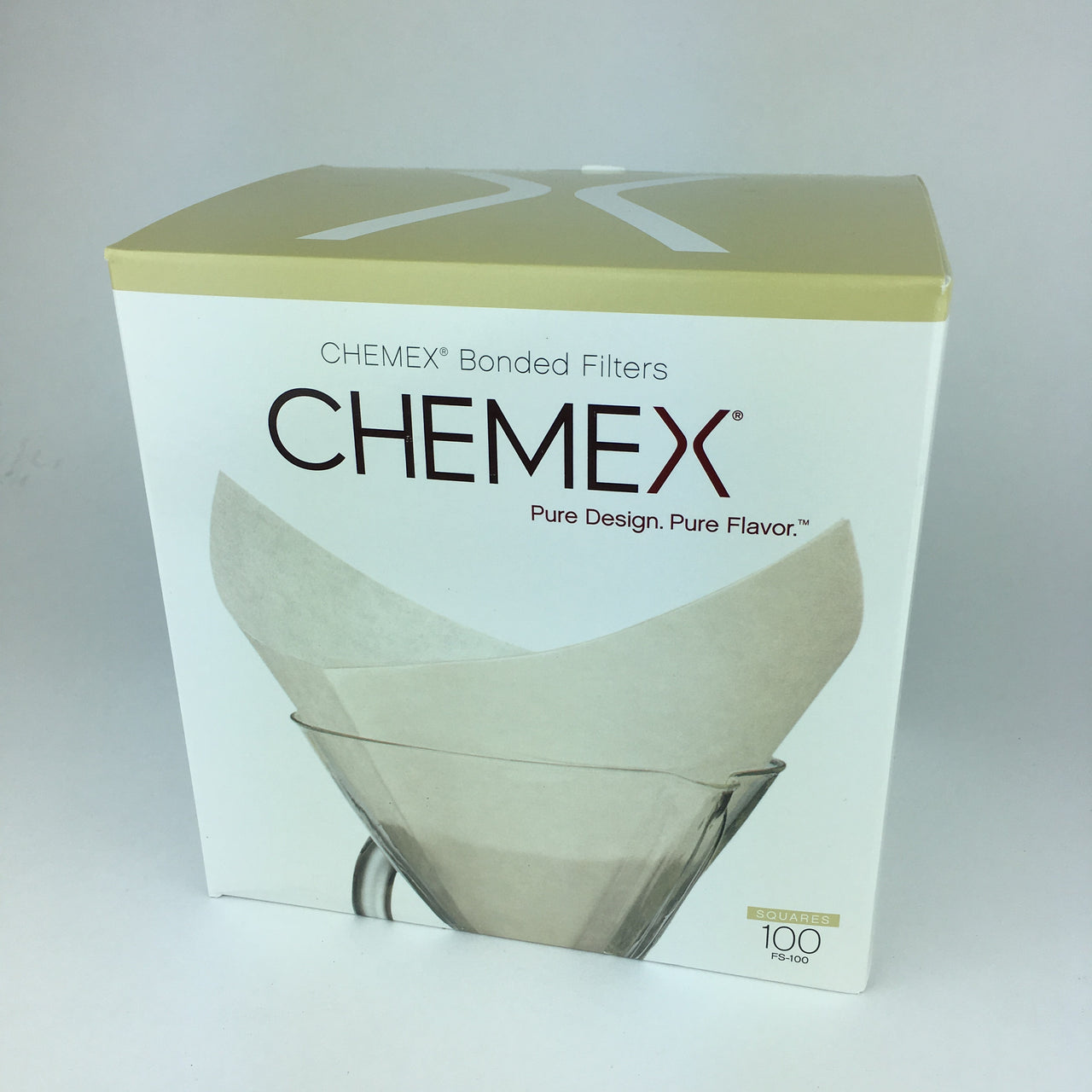 Box of FC-100 Chemex coffee filters for pour over coffee