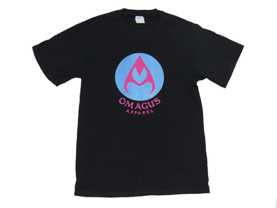 Blue and pink Omagus t-shirt