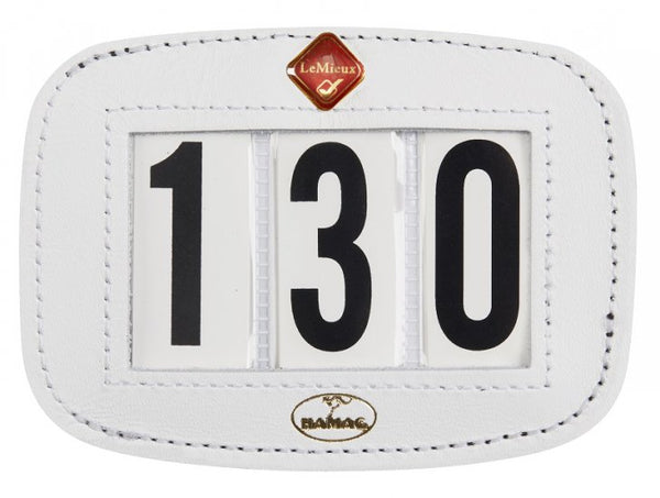 Hamag Le Mieux Leather Number Holder White - Saddlecloth