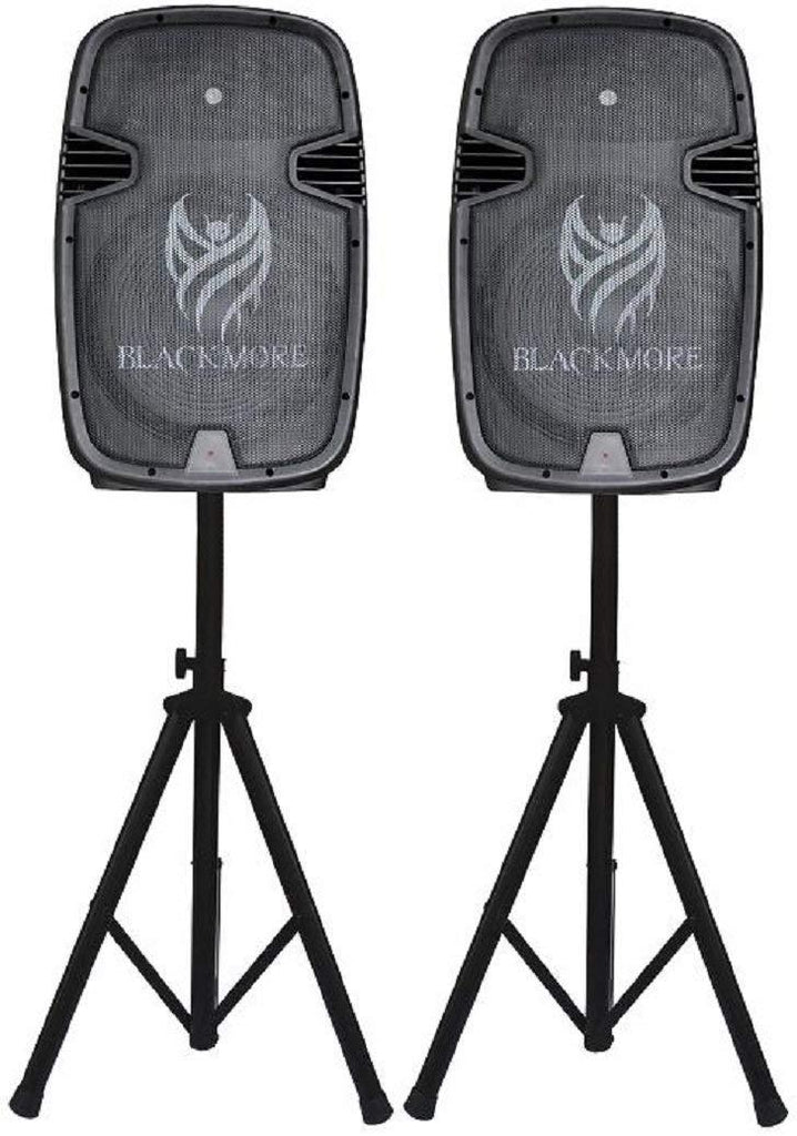 Blackmore Amplified Professional PA System W/Dual 15-Inch Monitors