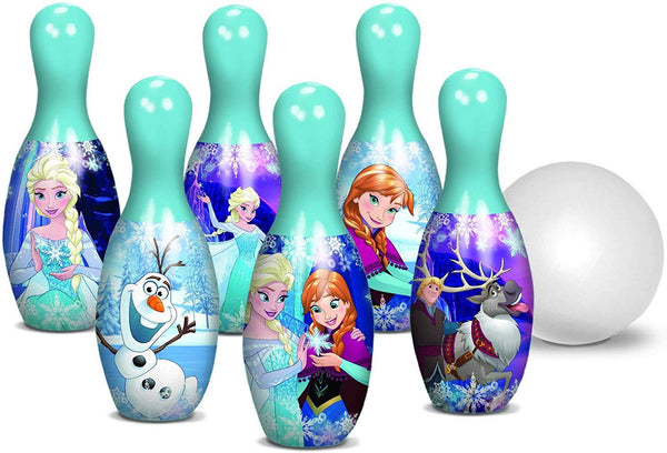 Frozen Bowling Set - 6 Pins and 1 Bowling Ball