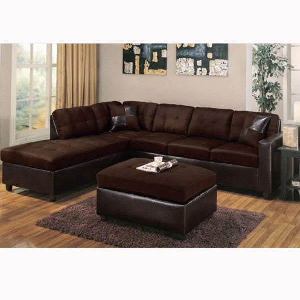 SALA SECCIONAL COLOR CHOCOLATE/ REVERSIBLE/SIN OTTOMAN