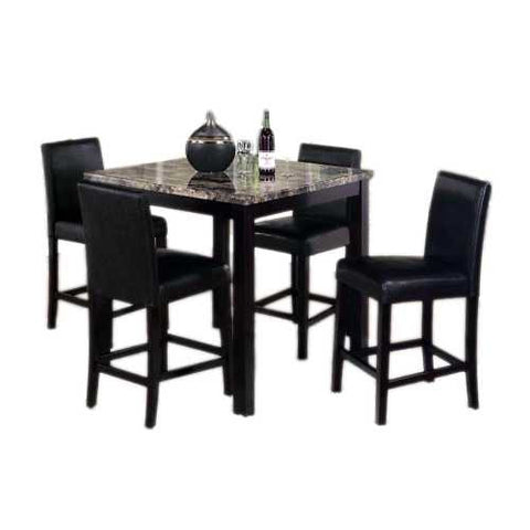 Affordable comedor alto con 4 sillas beltronica for Comedor alto