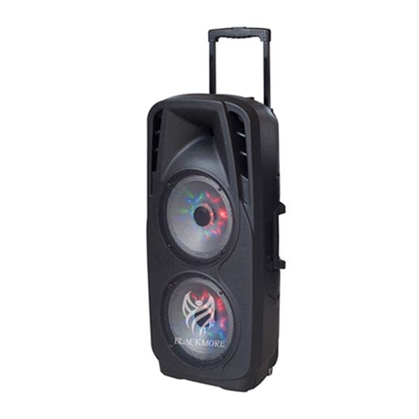 "Blackmore Bocina Amplificada 2X10"" Recargable,  Radio Fm,  Usb,  Sd,  Aux,  Bluetooth"