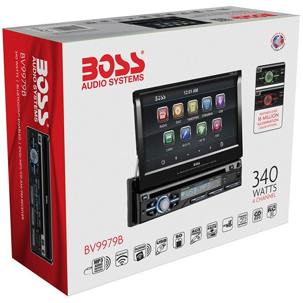 BOSS AUTOESTEREO CON PATALLA TOUCH RETRACTIL / 340 WATTS /BLUETOOTH / MP3/CD/DVD/USB/SD / AUXILIAR