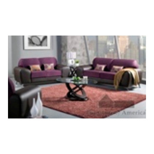 Sala con Sofa y Loveseat Grape/Expreso