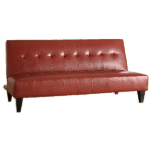 Crown futon Sofa Cama Vinil Rojo