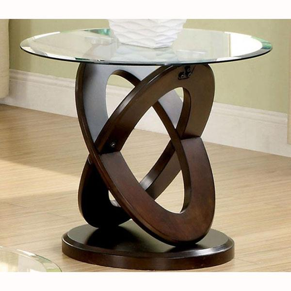 Import End Table Madera, Vidrio
