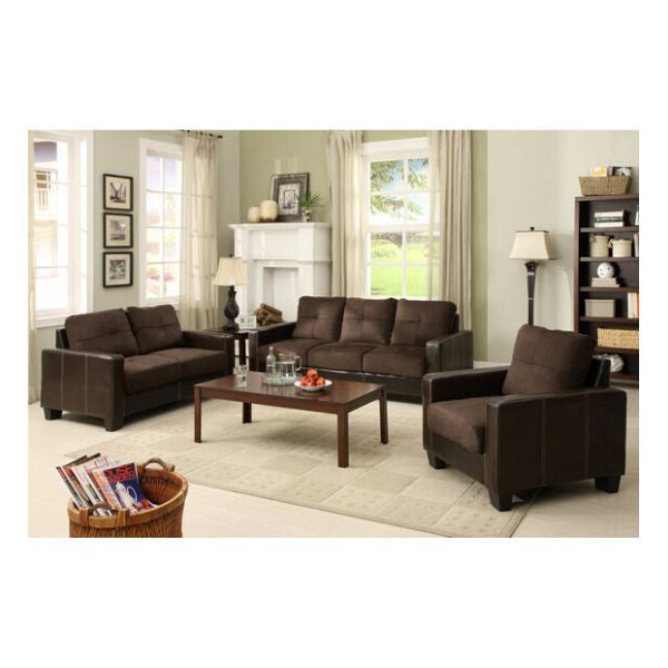 SALA DE TRES PIEZAS COLOR CHOCOLATE IMPORT IMPCM6598DK-3PC