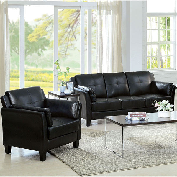 IMPORT SOFA Y SILLON EN COLOR NEGRO