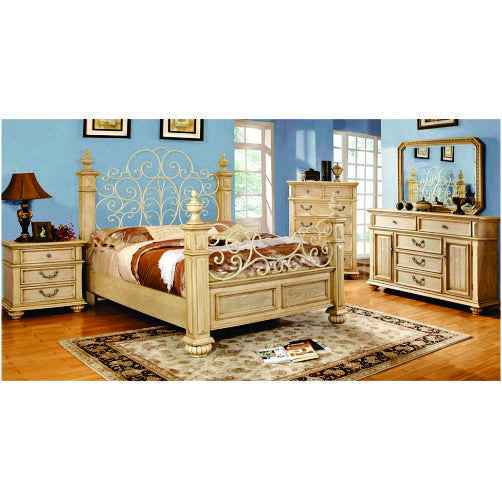 CAMA QUEEN CON 2 BURO, TOCADOR, ESPEJO Y CHEST    IMPORT  CM7810QSET-6PC