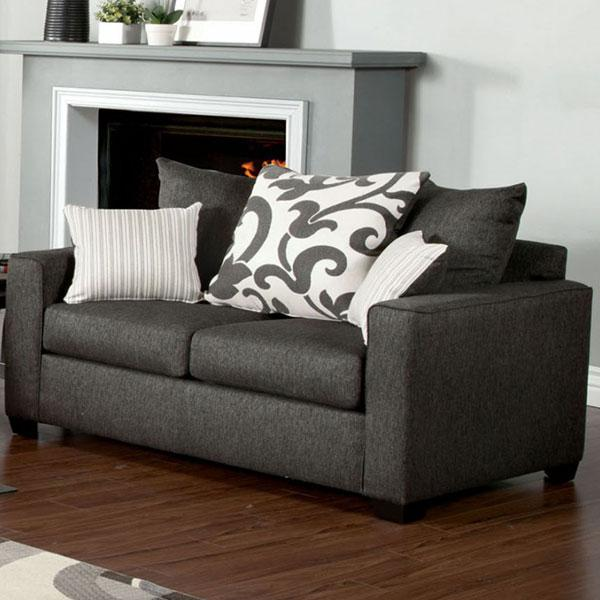 Import  Loveseat  Medium Gray