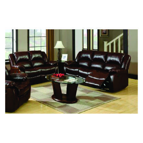 SOFA Y LOVESEAT EN COLOR ESPRESSO  IMITACION PIEL  IMPORT   SM6041-2PC