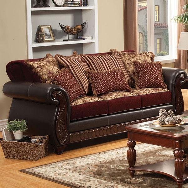 Import  Sofa  Burgundy