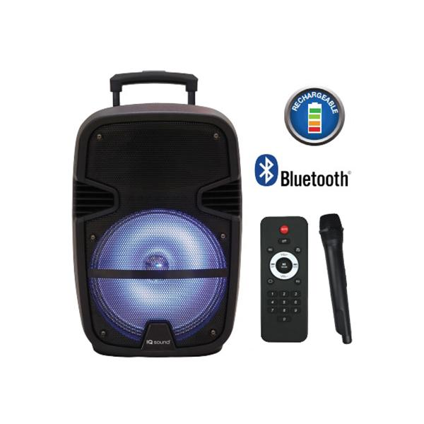 "Iq Sound Bocina Amplificada Recargable 15"" 3000W, Bluetooth, Aux In,  Usb , Sd, Radio Fm"