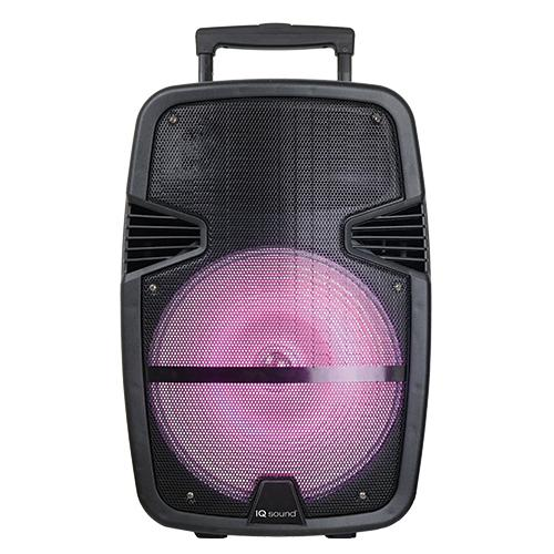 "Iq Sound Bocina Amplificada Recargable 12"" 2000W, Bluetooth, Aux In,  Usb , Sd, Radio Fm"