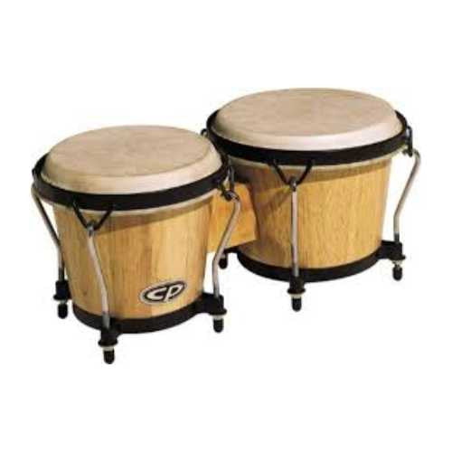 LATIN PERCUSSION BONGOS DE MADERA COLOR NATURAL